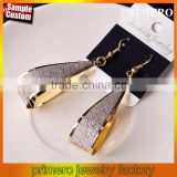Fashion Punk Girl Dangle Earrings Valentine's Day Gift Silver Gold Black 3 Colors