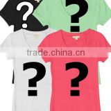Women's Classic blank high quality custom V neck T shirt                                                                         Quality Choice