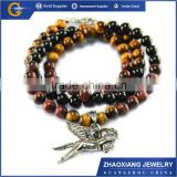 BNC008 stainless steel jewelry beads tiger eye necklace with horse