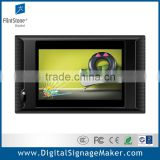 Retail store wall mounted wide screen 10 inch multi touch screen lcd digital advertising kiosk