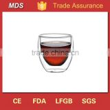 Double wall insulated tea cup tumbler glass factory in china                                                                         Quality Choice