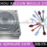 injection plastic knife ,fork and spoon mold,plastic knife fork and spoon injection mould