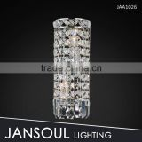 Round small bathroom crystal wall light fixture