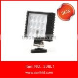 spot flood epistar super bright industrial product 36W led driving worklight, 10-30V waterproof led headlight for truck