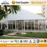 12x39m glass wall system tent structure, solid wall marquees exported to Africa for sale