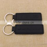 Custom logo black genuine / pu leather keychain/blank key chain leather promotion                                                                                                         Supplier's Choice