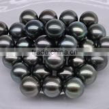 fashion jewelry wholesale cheap loose black tahitian pearls