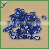 wholesale 112 # oval machine cut jewelry dark blue spinel semi precious stone