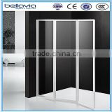 bathroom shower made in china 4mm clear glass ,6593 folding doors shower enclosure/shower door /shower screen shower wall panel
