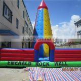 inflatable rock climbing wall with factory price