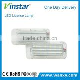 Good quality wholesales CE approve LED License Plate Lamp for Ford Focu.s 5D for Ford Mondeo/Focu.s/Fiset.a