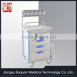 multi-function five drawers plastic-steel columns with anesthesia stand & storage box medium size ABS anesthesia trolley