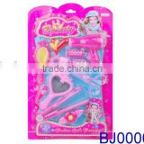 New arrival fancy toy for girls plastic electric hair dryer and led hair straightener toy set