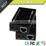 Vision black 30m/60m HDMI extender with IR over cat 5e/6 Ethernet cable                                                                         Quality Choice