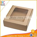 Custom brown kraft paper cardboard gift box with window                                                                         Quality Choice