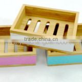 bamboo bathroom set wooden soap box