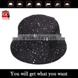 Fashion Accessory Headwear Cotton Twill Black Plain Snow Pattern Digital Printing Man Custom Bucket Hat Bulk                                                                         Quality Choice