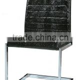 Modern Fancy Black PU Metal Dining Chair Reception Chair Modern Turkish Furniture Dining Room
