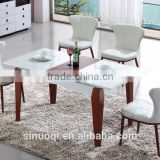 Wooden Dining Table Set Extendable Dining Table Chairs With Luxury Glass Top Designs Dining Table For Home Used