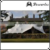 Customized 100 person carnival party tents, white stretch wedding tents for sale