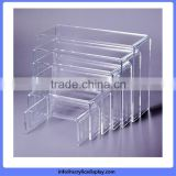 Low price high grade u bending black acrylic riser