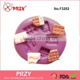 10mm Mini Chocolate Flexible Silicone Molds Kawaii Sweets Resin Fimo Polymer Clay Wax Fondant