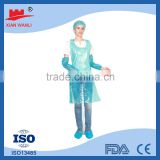 PE Bibs/cooking household Food Grade Polythene (LDPE) Medical Disposable PE plastic Apron