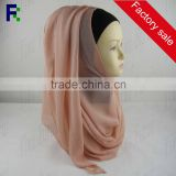 Zhejiang wholesale instant plain chiffon hijab for muslim ladies