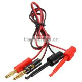 4mm Banana Plug to Test Hook Clip Test Lead Cable For Multimeter