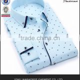 100% Cotton mens dress shirts unique slim masculinas printed autumn wholesale xxxxl casual mens dress shirts