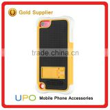[UPO] Popular White Silicon Shockproof Mobile Cover Combo Case with kickstand For iPod Touch 5