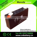 kanglida battery 6v1.3ah,rechargeable maintenance free low self-dischargeable battery 6v with best price