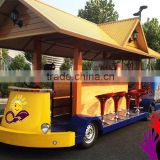 Playground Electric bike kids electric mini bus electric tourist train Adults with children