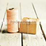240 yards spool Baker's Twine in Peach - 240 Yards - Orange Yellow Pastel Light String Ribbon Gift Wrapping Packaging