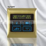 Good Quality IVOR 220V Central Air-Conditioner Thermostat Digital AC Thermostat Switch SK-AC2000B Satin Gold Metal Frame