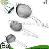 Stainless Steel Fine Tea Mesh Strainer Colander Sieve with Handle for Kitchen Food Rice Vegetable, set of 3