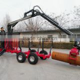 1Ton/3Ton/5ton forestry atv timber trailer with crane Mexico