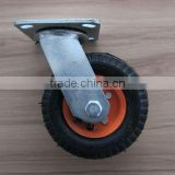 pneumatic small casters trolley wheel 6 inch