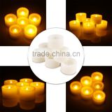 Set of 6 Battery Powered LED Tealight Candles Votive Flameless Candles with Timer Function Unscented Romantic Light for Wedding