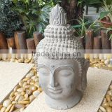 light weight fiberstone buddha head for home decor