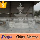 hand carving large decorative garden stone water fountain for sale NTMF-S515S