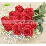 GNW FLS03 20 Head Bouquet Decor Latex Real Touch Wedding And Home Design Artificial Rose Flower