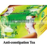 benefit anti-constipation tea for weight loss, detox and bowel cleansing,anhui best herbal tea