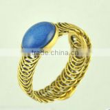 2016 indian gold filled bangles unique design girls indian bangles big blue gemstone rings chain bangle