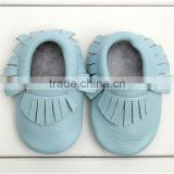 Factory Direct Wholesale Toddler Infant Leather Shoes Baby Girl Boy Tassel Moccasin Shoes