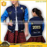 Customize Custom Youth Size Labies Baseball High School Uniform Baseball College Letterman Varstiy Jacket
