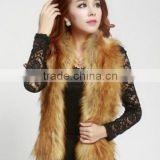 Autumn and winter female faux raccoon fur fur vest vest imitation fox fur vest