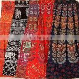 Indian GYPSY Handmade Cotton Long Skirt Boho Wrap Around Mandala Sarong Block Print Hippie skirt Dress wholesale