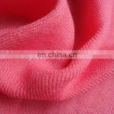 Worsted woven twill silk wool woven fabric for scarf