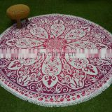 Mandala Beach Throw Tapestry Roundie printed New Custom design table cover